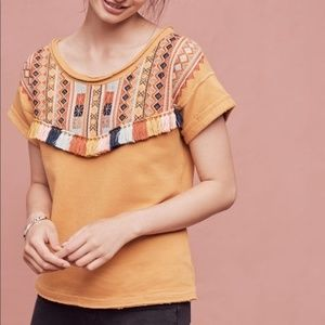 Anthropologie | Chloe Oliver Valencia Tassel Top